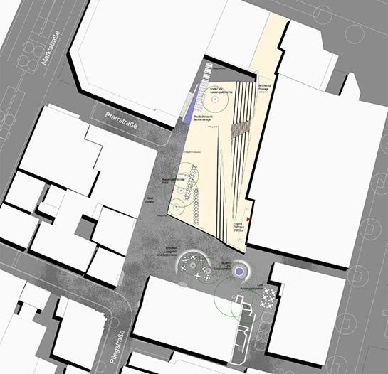 Lageplan der Stadtbühne auf dem Kornhausplatz in Göppingen