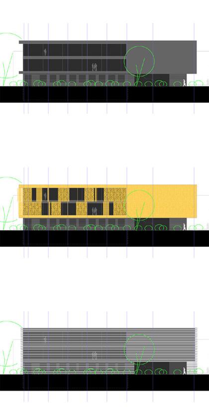 black, brass and suit – Fassadenstudien für eine Bürohausfassade eines mittelständischen Unternehmen