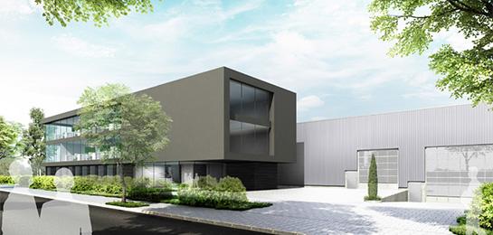 Fassadenstudie für eine Bürohausfassade eines mittelständischen Unternehmen: black