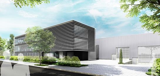 Fassadenstudie für eine Bürohausfassade eines mittelständischen Unternehmen: suit