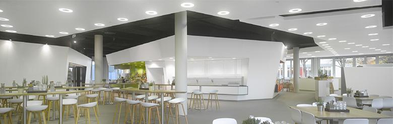 Scenic View im Leonardi Siemens FoodCour