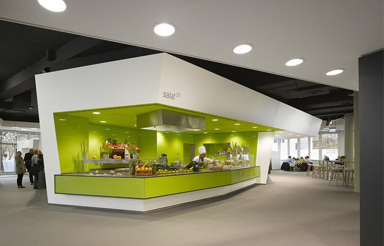 Salatbar im Siemens FoodCourt