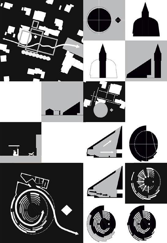 Piktogramme, Schwarzweissgrafik, Konzeptskizzen als Entwurfserläuterung