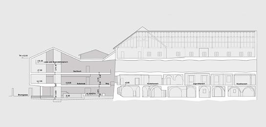 Bauen im Bestand, Alt und Neu, in Nachbarschaft zum Brixner Dom in Brixen an der Brunogasse