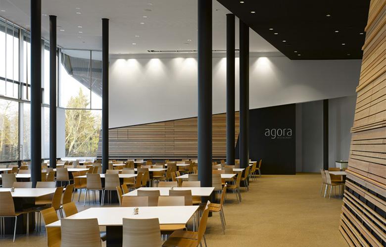 form follows content – Linde Agora, Mitarbeiterrestaurant und Konferenzzentrum